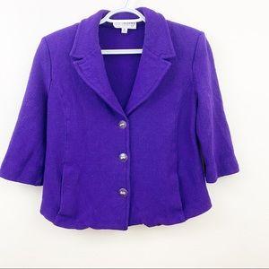 St. John Collection Santana Knit Blazer Size 8